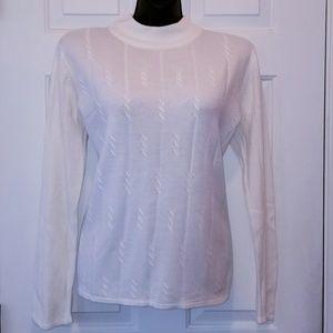 Sag Harbor Sweaters - Sag Harbor Soft, Cream Sweater M